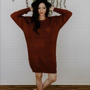 Dresses & Skirts - The Beth Sweater Dress - Rust
